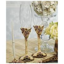 Weddingstar 9293 Elegant Vintage Rose Toasting Flutes