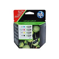 HP 932XL-933XL 4 Pack Set- Black and Color Inkjet Set 1 HP