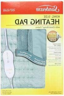 Sunbeam 938-511 Microplush King Size Heating Pad with LED