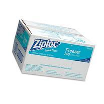 Ziploc 94604 Double-Zipper Freezer Bags, 1gal, 2.7mil, Clear
