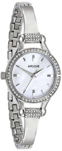 Bulova Women's 96L128 Crystal-Accented Stainless Steel Watch