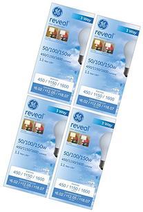 GE Lighting 97785-4 97785 Reveal Light Bulb, 4 Pack, Soft