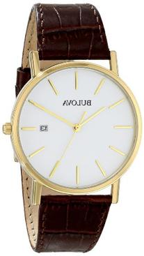 Bulova Men's 97B100 Gold-Tone Stainless Steel Watch With