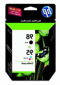HP CB327FN 98 Black & 95 Tri-color Original Ink Cartridges, 2 Cartridges