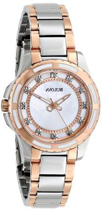 Bulova Women's 98P134 Diamond Dial Watch