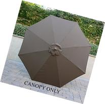 9ft Umbrella Replacement Canopy 8 Ribs in Cocoa