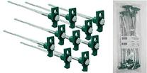SE 9NRC10 Galvanized Non-Rust Tent Peg Stakes with Green