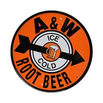 A & W Root Beer Reproduction Ad Tin Sign