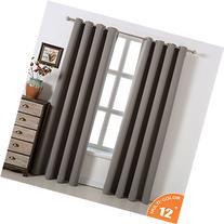 acelitor Blackout Bedroom Curtains Set 100% Polyester