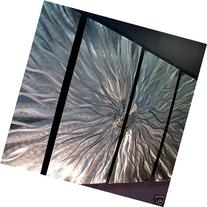 Abstract Silver Metal Wall Art Sculpture - Multi-Panel