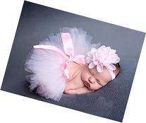 Newborn 4-12 Months Headdress flower+bowknot Tutu Clothes