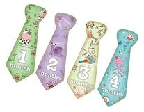 Baby Monthly Stickers Animals Necktie Tie For Girls and Boys