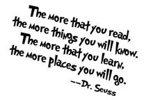 "Amaonm® Removable Quotes and Saying ""Dr. Seuss the More You"