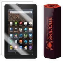 Amazon Fire Screen Protector , Skinomi TechSkin Full