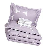 AmazonBasics 7-Piece Bed-In-A-Bag - Full/Queen, Purple Mod
