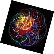 Amber Bliss - Orbital Rave Light Toy - 4-Microlight LED Spinning Flywheel Light Show by Rob's Super Happy Fun Store