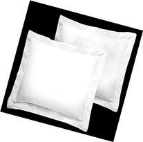 American Pillowcase White Pillow Shams Set of 2 - Luxury 300
