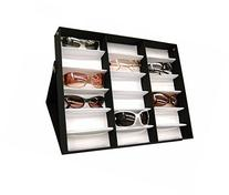 amzdeal Sunglasses Display Case 18 Slot Sunglass Eyewear
