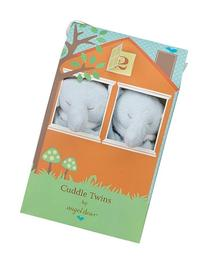 Angel Dear Cuddle Twin Set, Blue Elephant