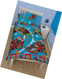 Angry Birds Go Fast Rotary Duvet Cover and Pillowcase Set