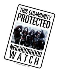 Aquarius Kiss Neighborhood Watch Kiss Tin Sign