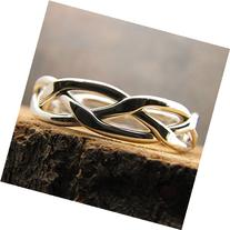 Argentium Sterling Silver Braided Stacking Ring