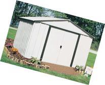Arrow Arlington High Gable Steel Storage Shed, Eggshell/