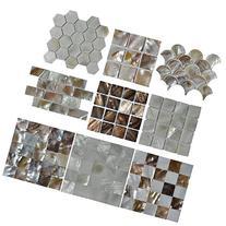Art3d Mother of Pearl  Mosaic Tiles, 9 Samples
