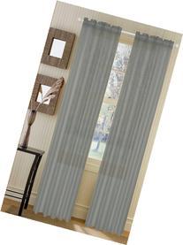 "Asbury Elegant Voile Sheer Panel - 54""x84"