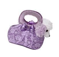 Aurora World Fancy Pals Plush Toy Pet Carrier, Lavender