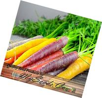 BIG PACK x Organic Rainbow Mix Carrot  Seeds - Atomic Red,