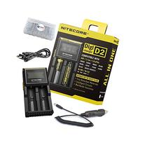 BUNDLE: Nitecore D2 Digi charger compatible with IMR LiFePO4