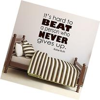 """Sports Quotes Wall Decals - Babe Ruth Quote - """"It's Hard To"""