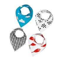 Baby Bandana Drool Bib 4 Pack Teething and Dribble Bibs That