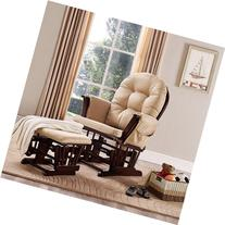 Baby Relax Harbour Glider Rocker and Ottoman Set - Beige -