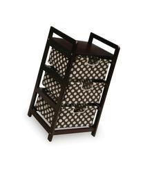 Badger Basket Three Drawer Hamper/Storage Unit, Espresso/