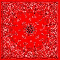Balboa B003 Premium Cotton Bandanna, Red Paisley