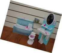 Barbie Size Dollhouse Furniture- Bathing Fun with Bath Tub