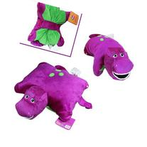 "Barney the Dinosaur 12"" x 12"" Plush Pillow Friend Doll"