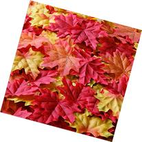 Bassion 210 Pcs Assorted Mixed Fall Colored Artificial Maple