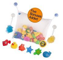 Baby Bath Toy Organizer Set by Bath Fun Time with 5 Bath