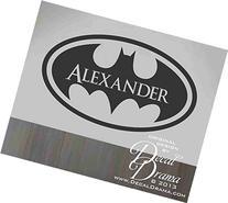 Batman emblem, Fan-Art Superhero PERSONALIZED Name Vinyl