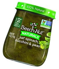 Beech-Nut Stage 2 Baby Food, Spinach/Zucchini/Peas, 4 Ounce
