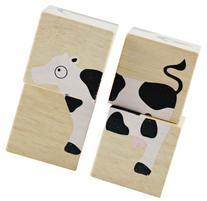 BeginAgain BuddyBlocks - Farm Animals - Wooden Blocks and