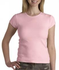 + Canvas Ladies' Baby Rib Short-Sleeve T-Shirt-2XL