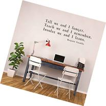"""Benjamin Franklin Quotes Wall Decal """"Involve Me And I Learn"""
