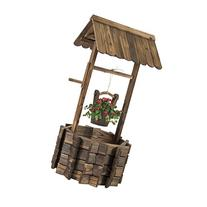 Best Choice Products Wooden Wishing Well Bucket Flower