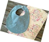 Bib/Burp Cloth Combo/Gift Set ~ Floral/Pretty/Girly/Pink/