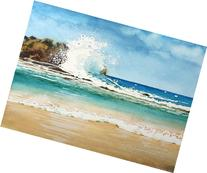 Big Crash, Giclee Print of Watercolor Seascape Showing a