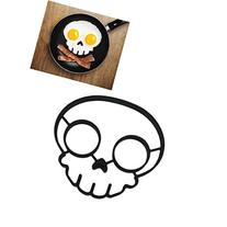 BinmerEgg Mold Non-stick Silicone Novelty Skull Egg Fried